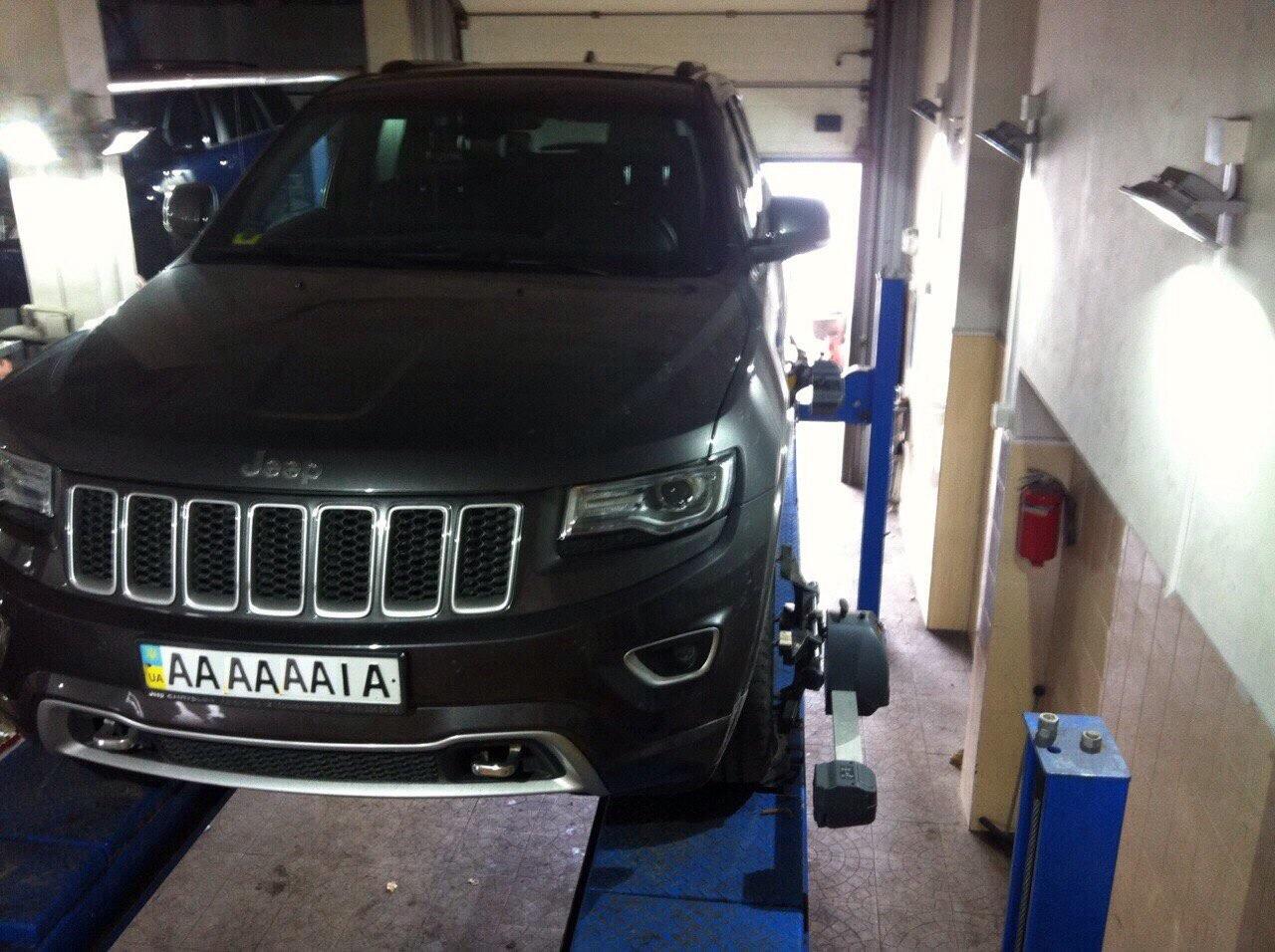 Развал-схождение автомобиля Jeep